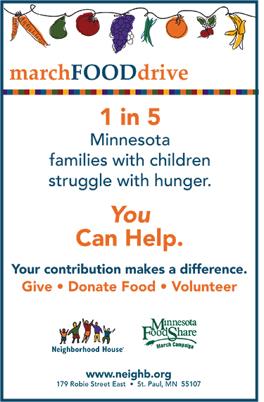 2017 March Food Drive 11x17 poster