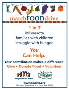 2018 March Food Drive 8.5x11 poster
