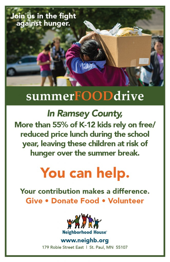 2019 Summer Food Drive 11x17 poster