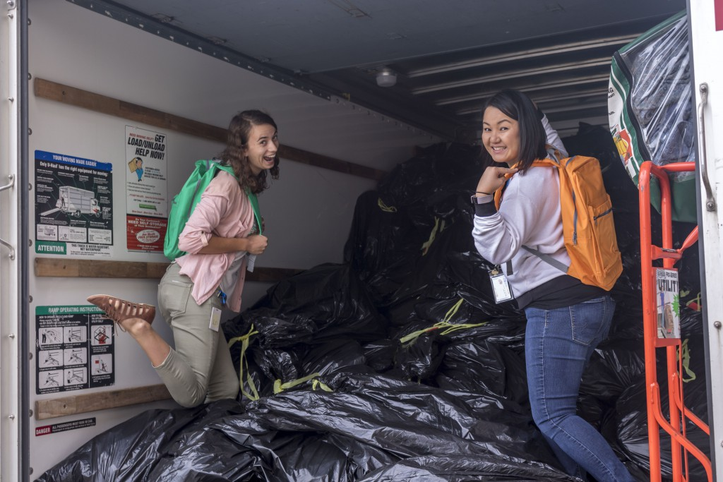 1,500 backpacks is enough to fill a U-Haul truck!