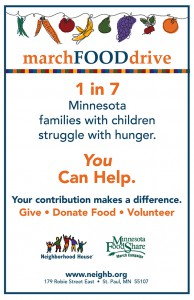 2018 March Food Drive 11x17 poster